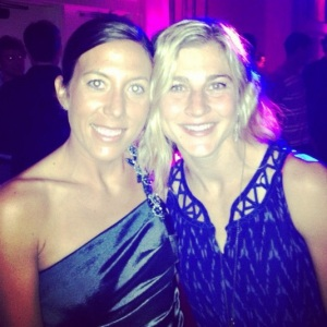 Meeting Lauren Fleshman at the Totally Trials party this summer.