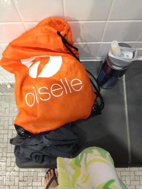 oiselle at pool