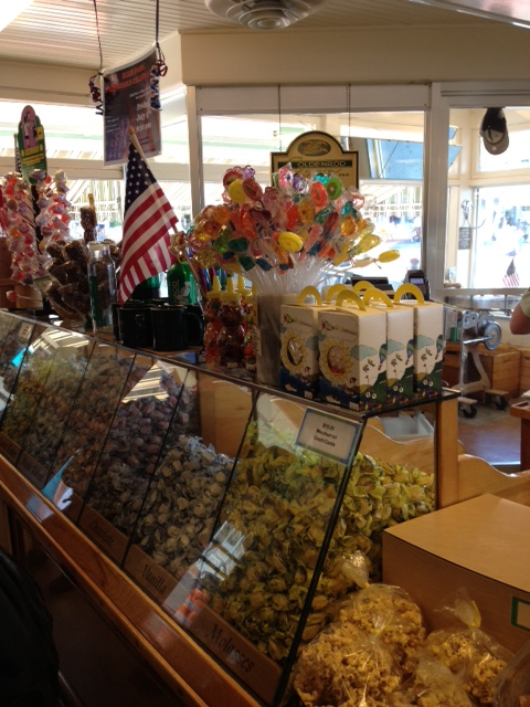 Goldenrod Kisses (the BEST saltwater taffy) York Beach, Maine