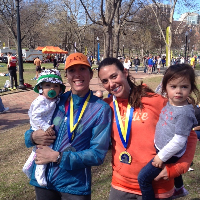 After the Boston Marathon last year (and probably the only finisher's medal I'll ever hang on my wall)