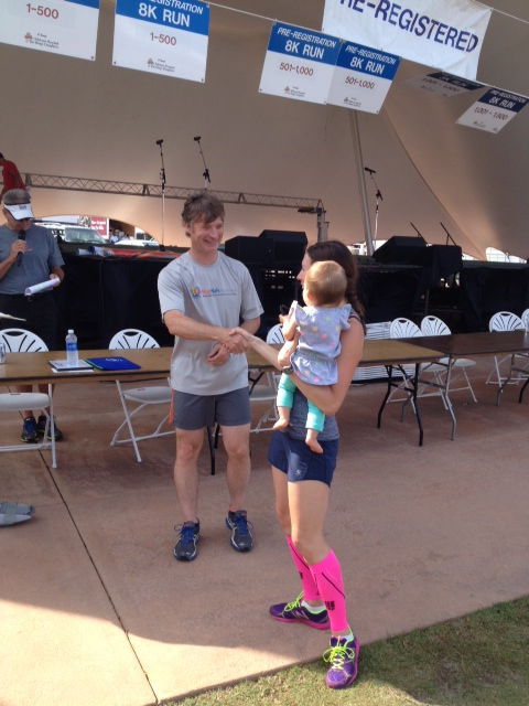 The race gave out gift certificates to Running, Etc. for the top three places and age group winners