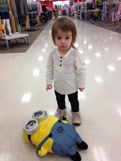 Poor Emma, she really wanted to take that minion home.